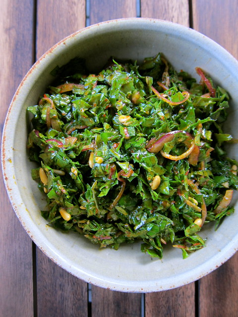 Kale Salad with Harissa Vinaigrette