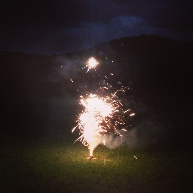 backyard #fireworks.