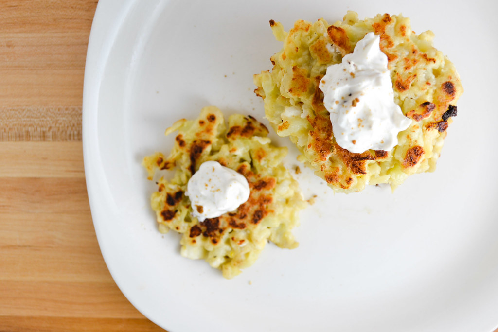 Cauliflower and Feta Fritters | Things I Made Today
