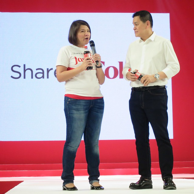 Jasmin Vinculado, Marketing Director of Coca-Cola Philippines,  with Ben Chan
