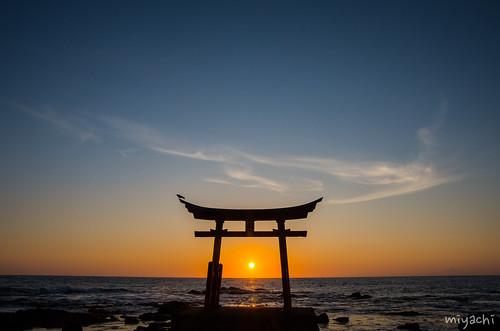 【75日目】金比羅岬で夕日(北海道)