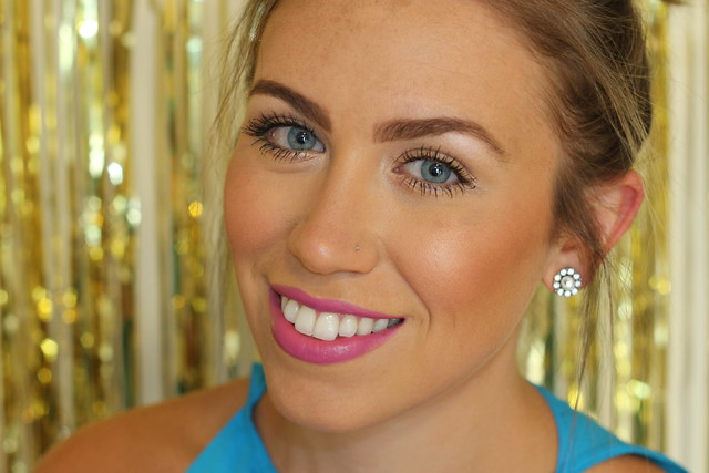 Purple Summer Lipstick on #LivingAfterMidnite #MakeupMonday