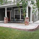 Porch With Brick Edge In Davis