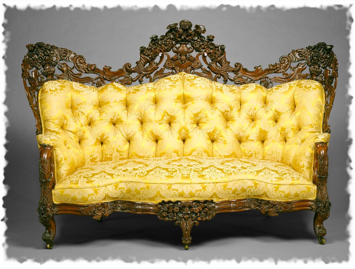 1855 Sofa. American. Rosewood. metmuseum