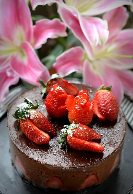 Strawberry dark chocolate 草莓黑朱古力