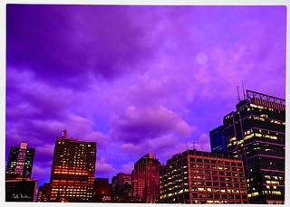 Purpled Sky Over Boeing