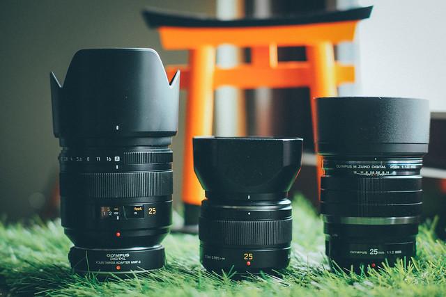 Olympus 25mm f/1.2 Pro|Panasonic 25mm f/1.4 DG & D