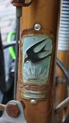 HVZ bike head badge (USSR/Ukraine)