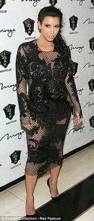 Kim Kardashian Sheer Dress Celebrity Style Women's Fashion