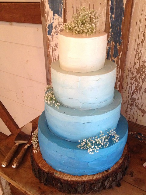 smith s grocery wedding cakes rustic blue ombr 233 wedding cake flickr photo 20252