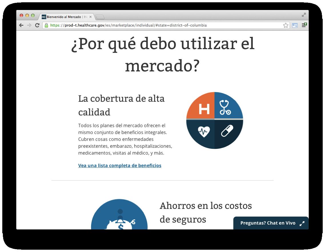 HealthCare.gov in Spanish