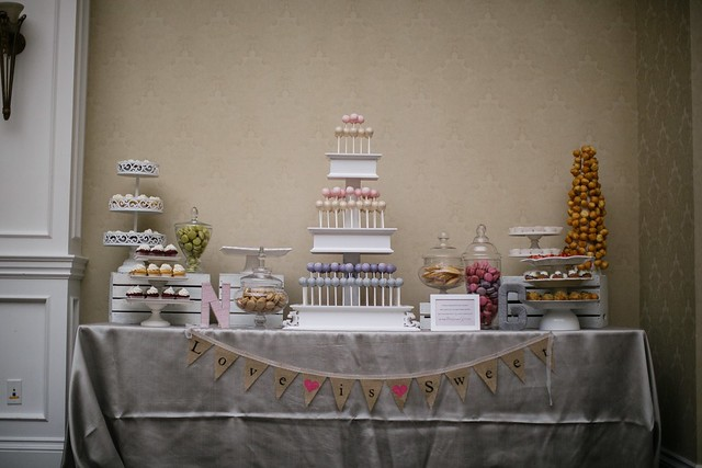 Custom wedding cake pop and cupcake display