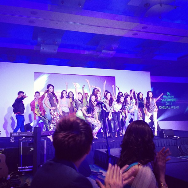 Kick off to Miss World Singapore 2013! #miss world singapore