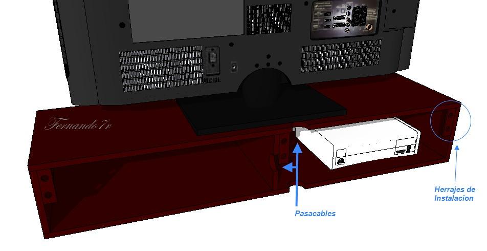 Mueble flotante para tv led xboxone bluray ps4 ref mtv120 for Mueble para dvd