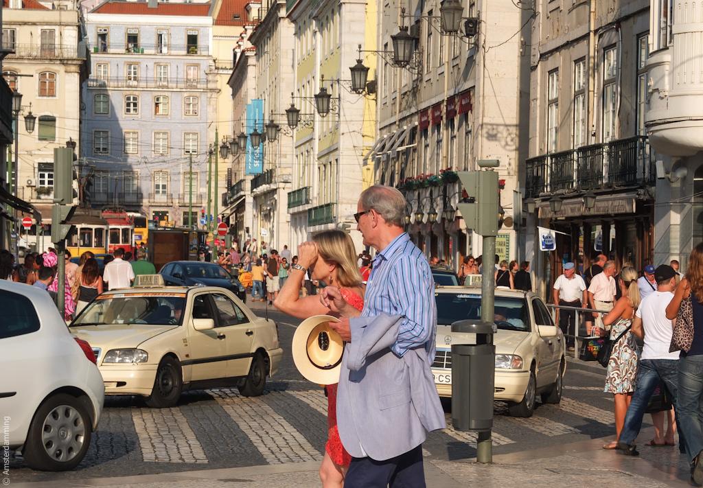 Lisbon, Street Scene in Baixa
