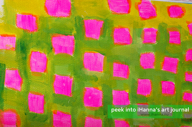 Art Journal Detail: Pink Dots