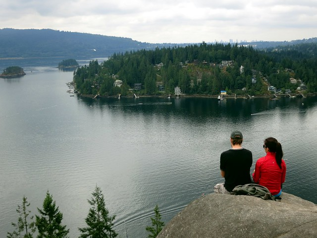 Taking in the view from Quarry Rock