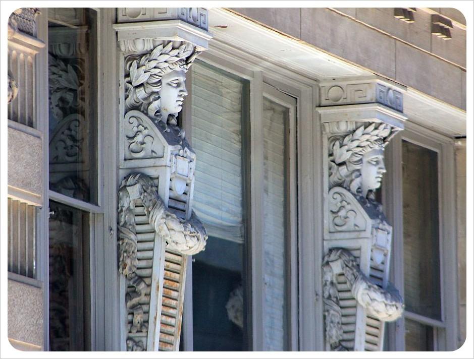 new york broadway stone sculptures