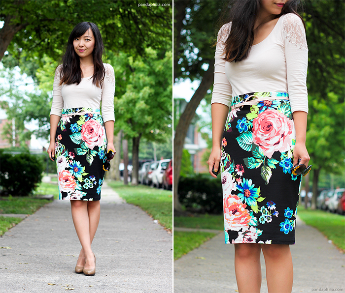 how to wear neon florals for work