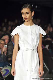 Eco Fashion Week Day 3 Evan Ducharme Fashion Collection Belladonna - white long dress