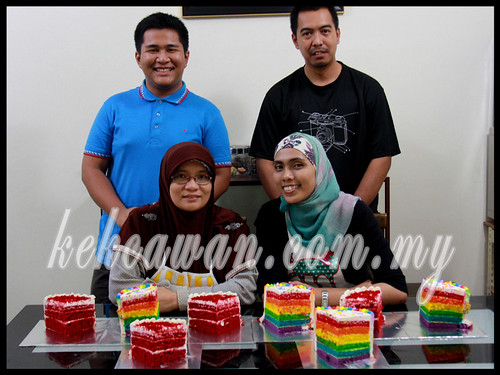Baking & Deco Class: Red Velvet Cake & Rainbow Cake with Cream Cheese ~ 17 Oct 2012
