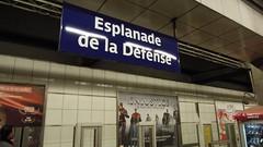 Esplanade de La Défense Metro Station, Paris