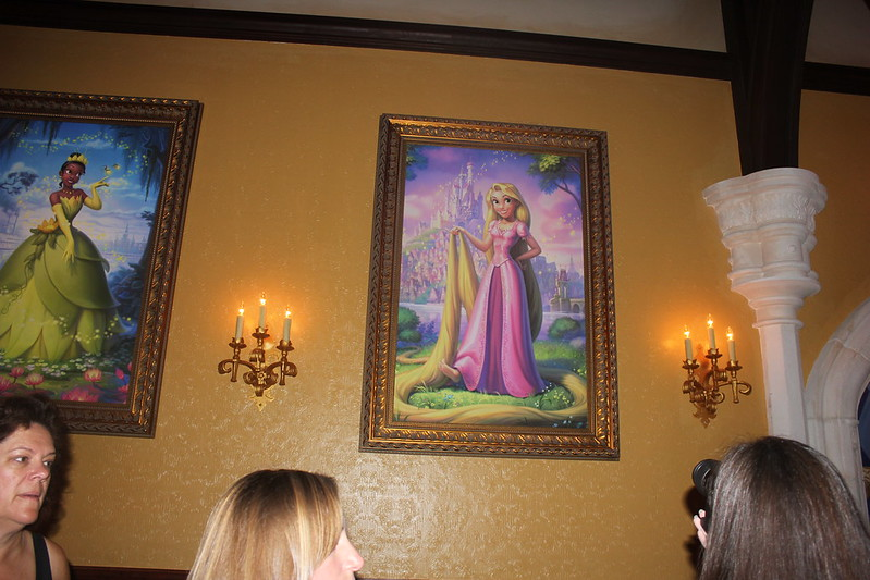 Princess Rapunzel and Tiana Portraits at Fairytale Hall