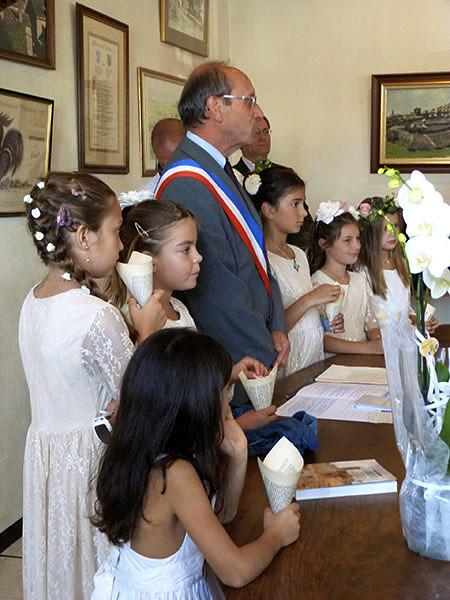 le maire et les enfants