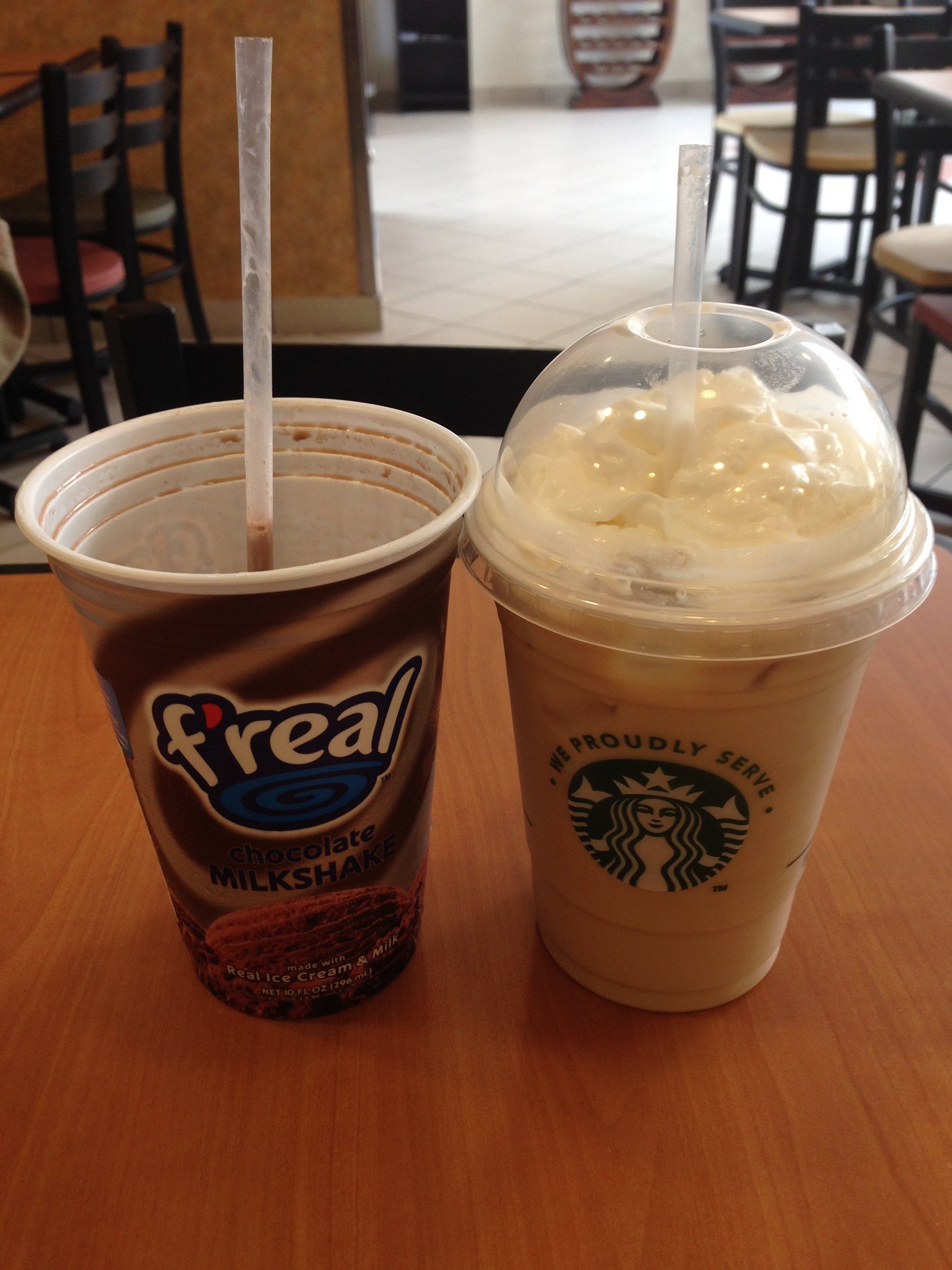 f'real and Starbucks