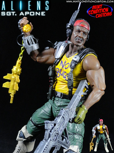 Custom Aliens Sgt. Apone (Kenner Style) NECA Action Figure