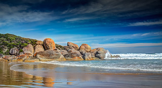 Rocks on Picnic Beach Wilson's Promontory