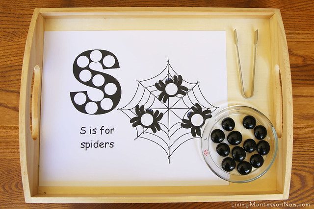 S is for Spider Beginning Sound Activity