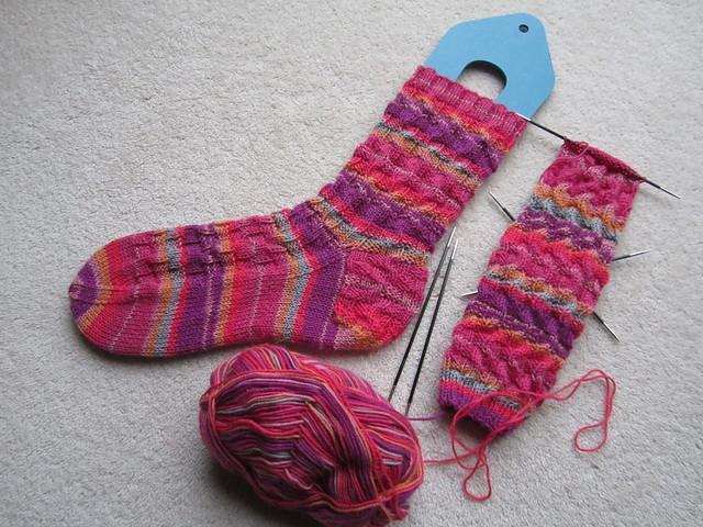 Roxy socks WIP (1)