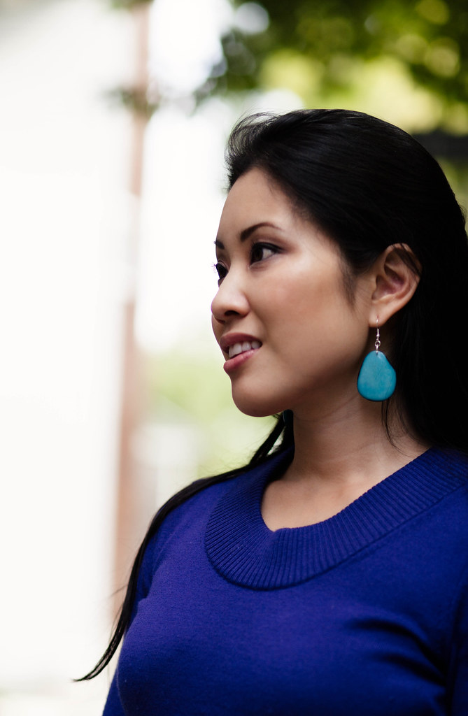 cute & little blog | mujus hoja teal earrings #giveaway