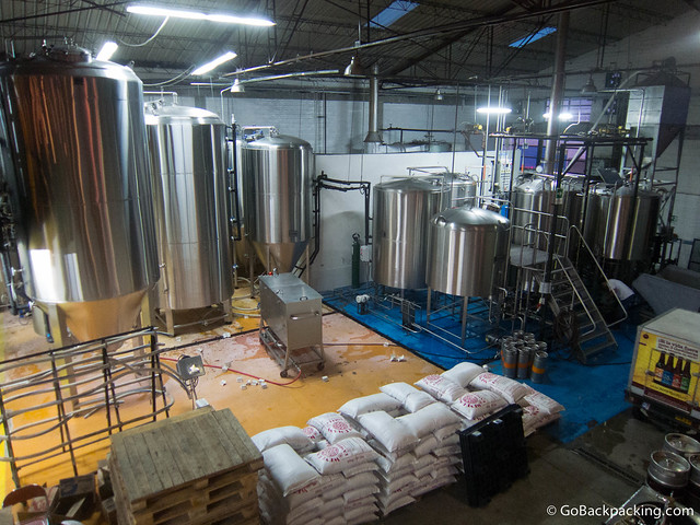 The brewery's facilities