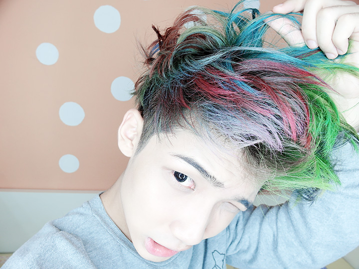 typicalben rainbow hair 2