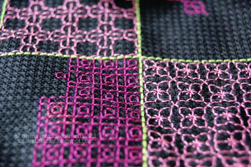 Pink blackwork