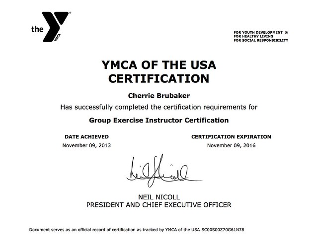 Group Exercise Instructor Certification
