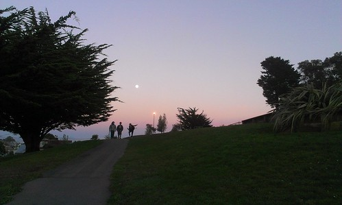 Moon rising over Holly Park