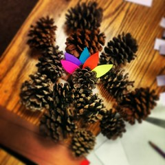 There's a turkey in them there pine cones. #turkey #thanksgiving #crafts #art #pinecones #holidays #specialeducation #teaching #photoaday #android #365project