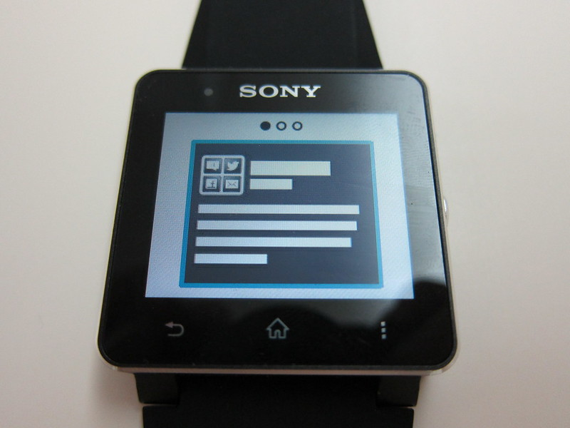 Sony SmartWatch 2 - Notification Style #1