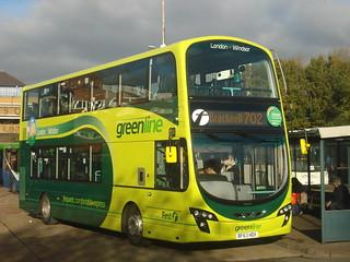 First Beeline (Green Line) 37998 on Route 702, Bracknell