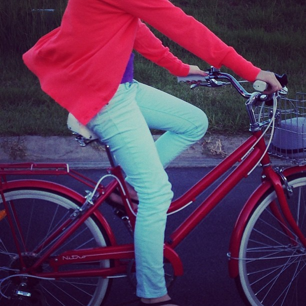 Rocking the suburbs! #bicycle #neon