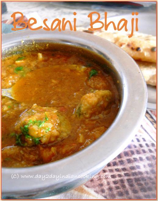 recipe of making besani bhaji