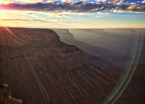 looking west from Hopi Point, just before sunset