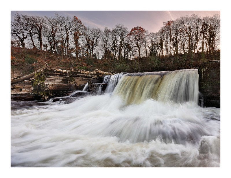 Waterfall on the river Swale in Richmond, North Yorkshire.