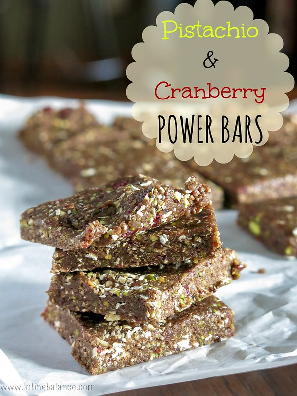 Pistachio Cranberry Power Bars