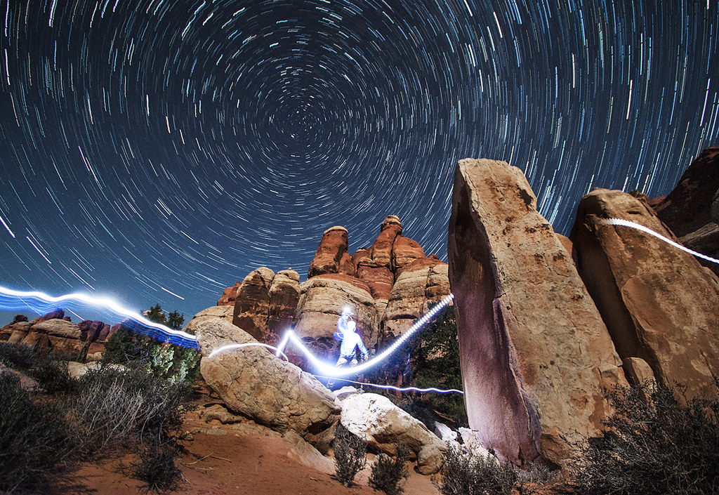 The Needles - Chesler Park Star Trails | Jeremy Weir | Flickr