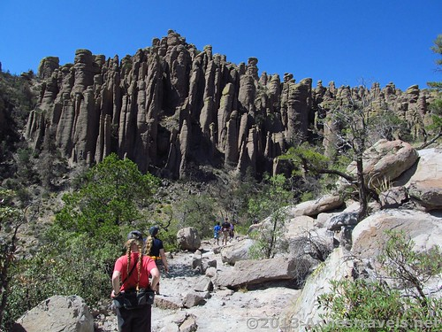 Hiking on the early part of the Echo Canyon Trail, Chiricahua National Monument, Arizona