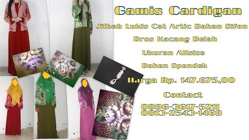 Gamis Cantik Unik Cardigan | Jual Busana Muslim Murah Online Satu Paket Dengan Jilbab Dan Bros Harga Murah Abisss!! | Jual Gamis Murah Dan Cantik